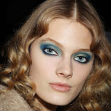Blue Eye Makeup at Paris Fashion Week 2011 Autumn Winter