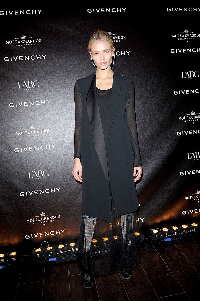 Natasha Poly gave us sheer-chic layers for a fashion-forward look we loved in Paris.