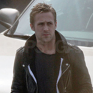 Pictures of Ryan Gosling on the University of Michigan Campus Filming Ides of March