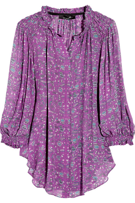 Easy, bohemian chic at its best.   Isabel Marant Lincoln Printed Silk Georgette Blouse ($605)