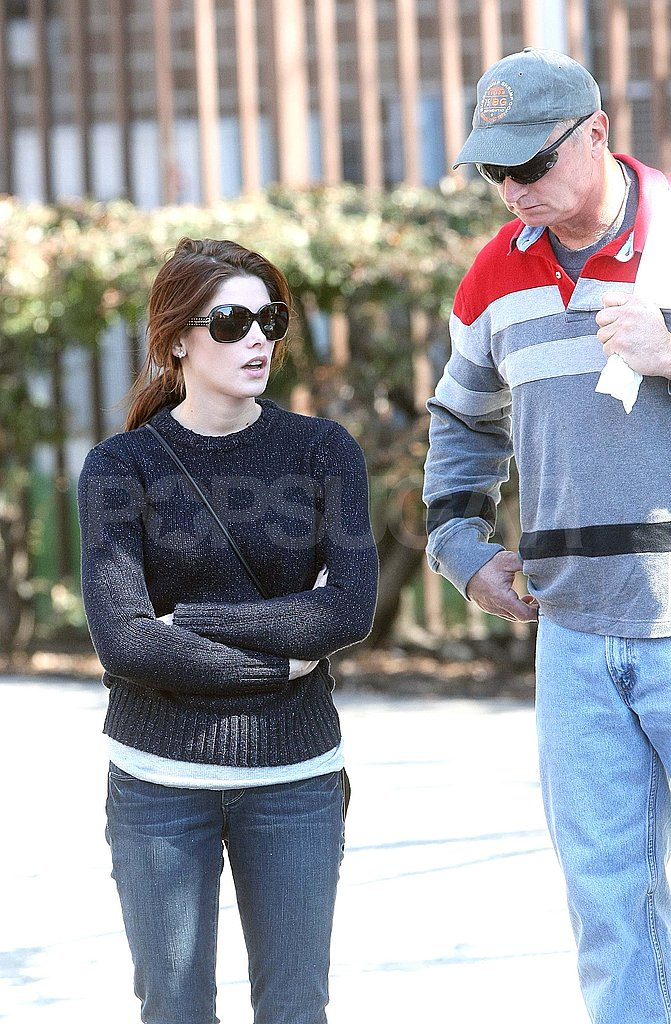 Ashley Greene Takes Her Split in Stride With Her Dad by Her Side
