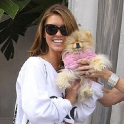 Pictures of Audrina Patridge and Giggy the Pomeranian in LA