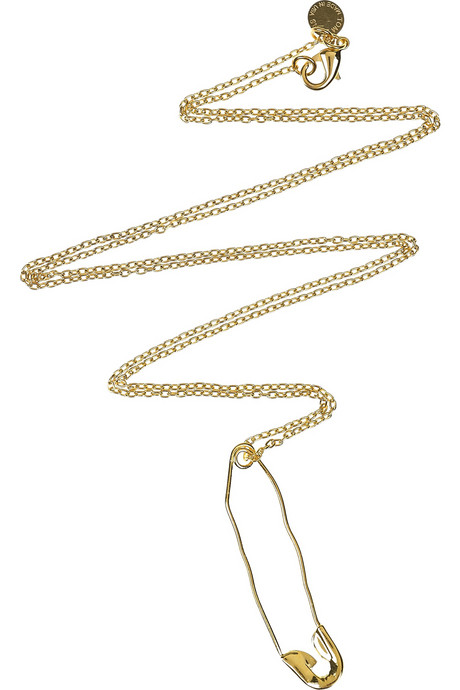 Tom Binns Safety Pin Necklace ($100)