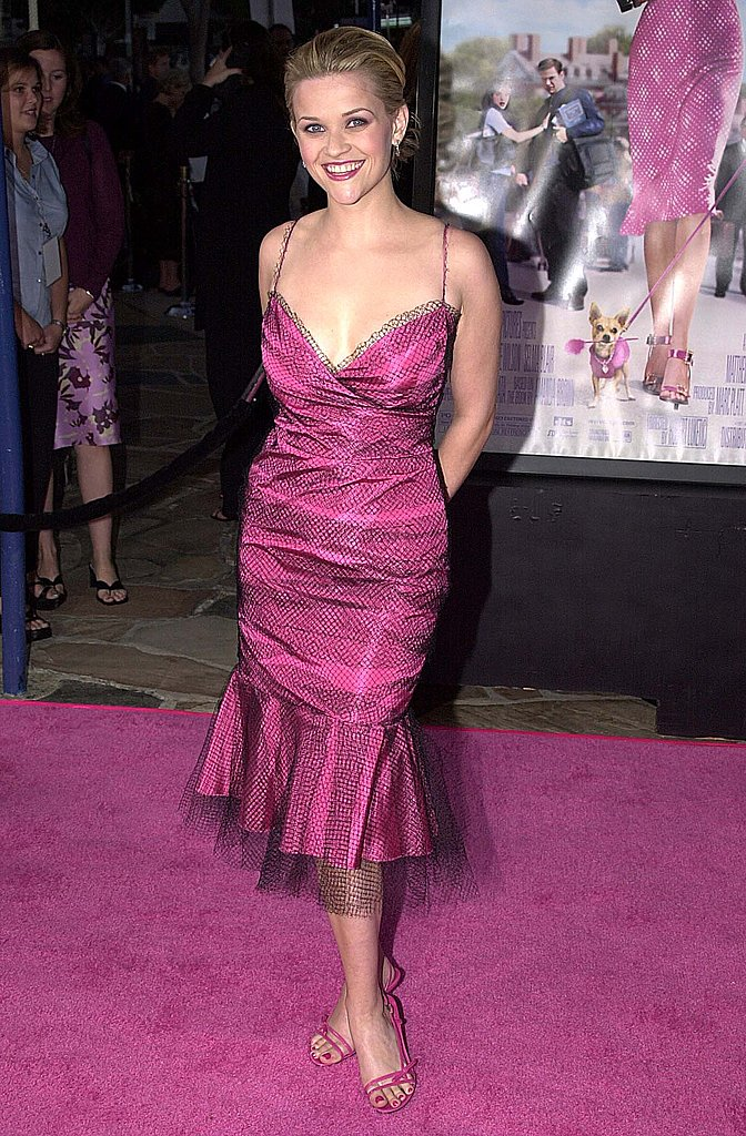 Reese Witherspoon in Fuchsia Dress at 2001 Legally Blonde LA Premiere