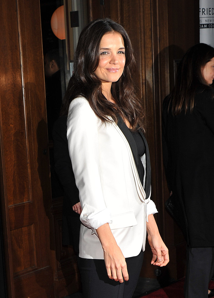 Katie Holmes Suits Up to Premiere Her Pretty Hair Decision For John Frieda