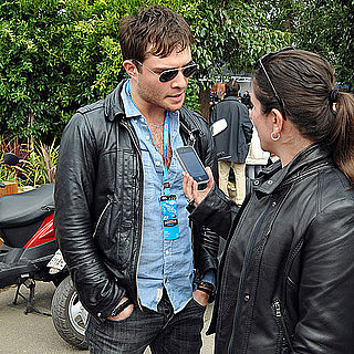 Pictures of Ed Westwick at Australian Grand Prix