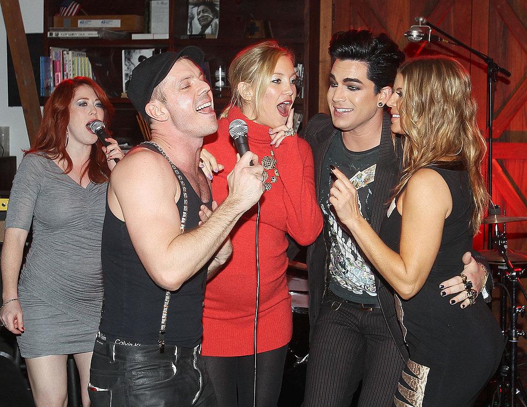 Pregnant Kate Hudson Singing at Chrome Hearts Dinner With Fergie, Josh Duhamel, Adam Lambert and More