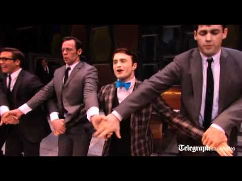 Preview Clip of Harry Potter Star Daniel Radcliffe Singing and Dancing in Broadway's How to Succeed in Business