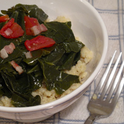 Recipe For Collard Greens With Bacon and Tomatoes