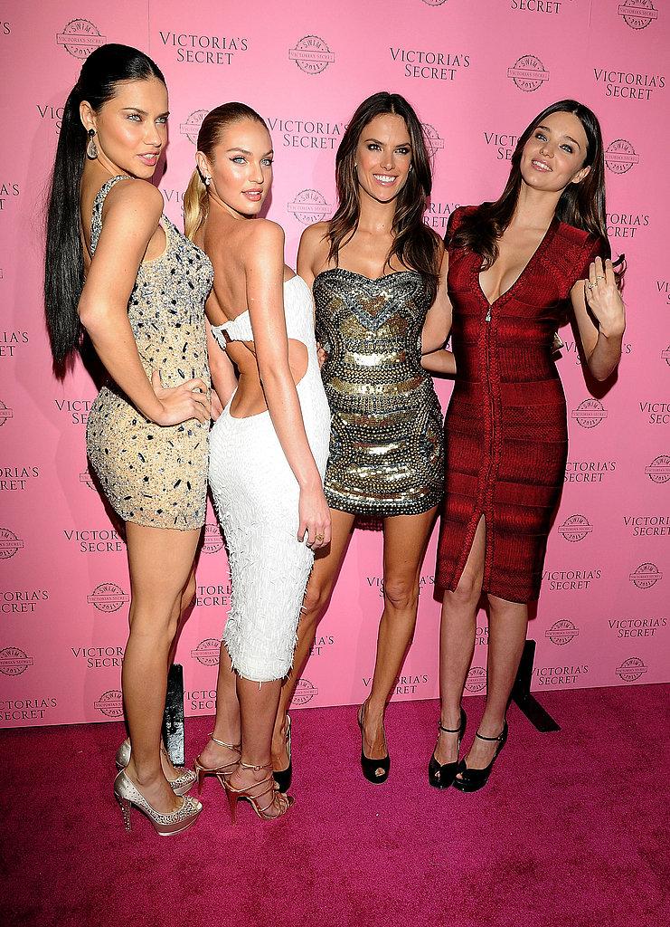Alessandra, Adriana, and Candice Put Their Bikinis Away to Party With Fellow Angel Miranda Kerr