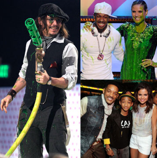 Johnny Depp, Kim Kardashian, Justin Timberlake, Selena Gomez and More at 2011 Nickelodeon Kids' Choice Awards