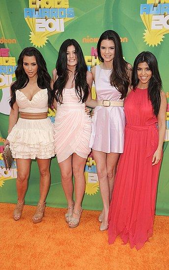 The Kardashian/Jenner sisters(2011 Kids' Choice Awards)