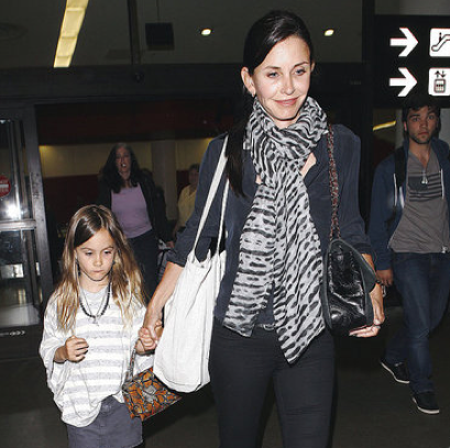 Pictures of Courteney Cox and Coco Arquette Arriving at LAX