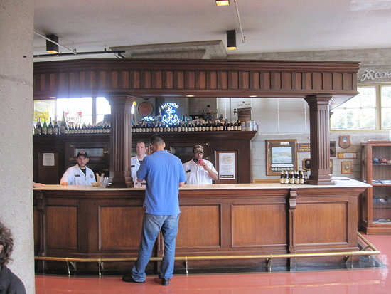 There's an old-fashioned bar inside.
