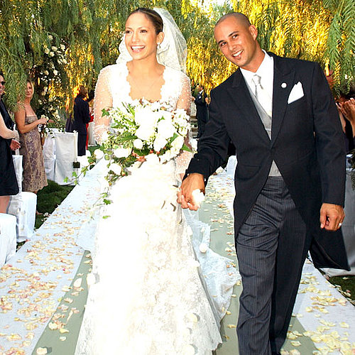 Jennifer Lopez and Chris Judd were married in Calabasas in September 2001.