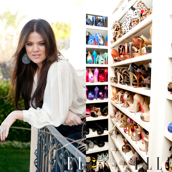 Khloe Kardashian Shows Off Her Shoe Collection to Elle Magazine and The Coveteur 2011-04-14 10:30:35