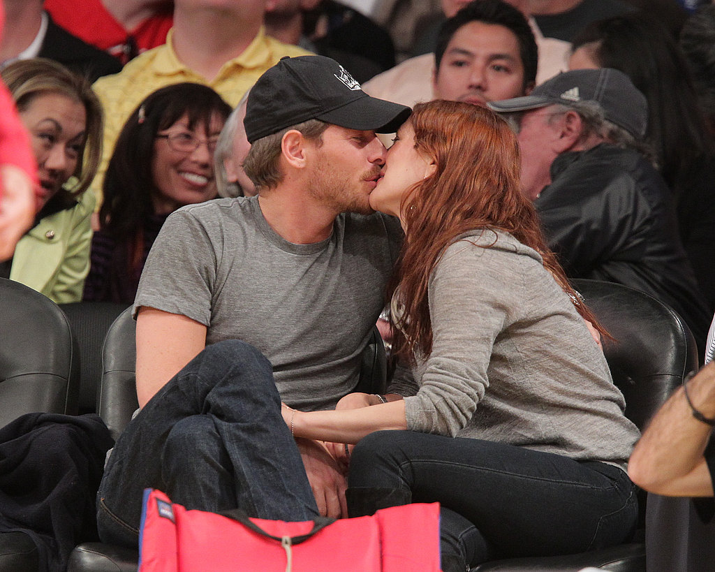 Drew Barrymore Has a Hot Date at the Lakers Game With David, Bradley, and Zac!