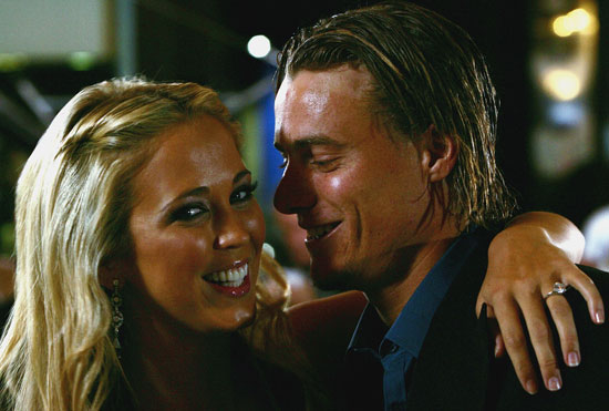 2005: Bec Cartwright and Lleyton Hewitt