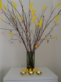 Easter in Sweden - decorate with feathers!