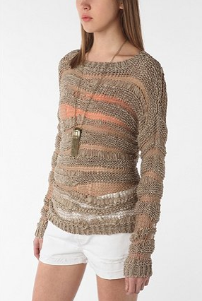 Staring at Stars Shadow Stripe Pullover ($59)