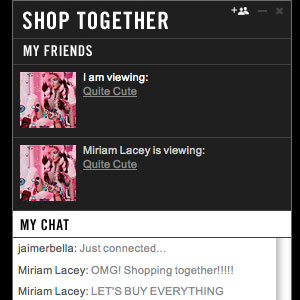 MAC Launches Shop Together Instant Messaging