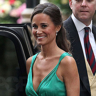 Pippa Middleton Pictures in Green For Royal Wedding Dinner