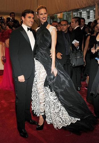 Archie Drury and Karolina Kurkova in Jean Paul Gaultier couture