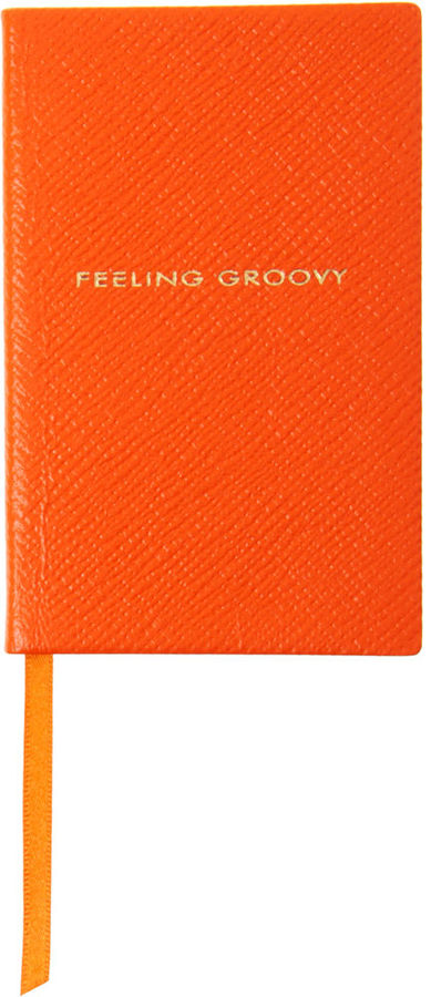 This bold, bright notebook has a cheery message that will definitely brighten her day. Smythson Feeling Groovy Wafer Notebook ($60)