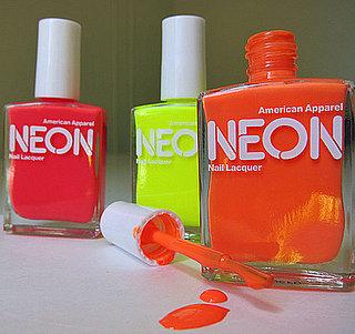 American Apparel Neon Nail Polish and Review