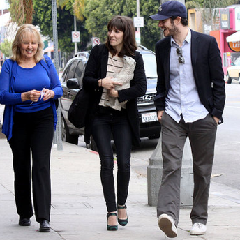 Adam Brody and Lorene Scafaria Grab Drinks on Mother's Day