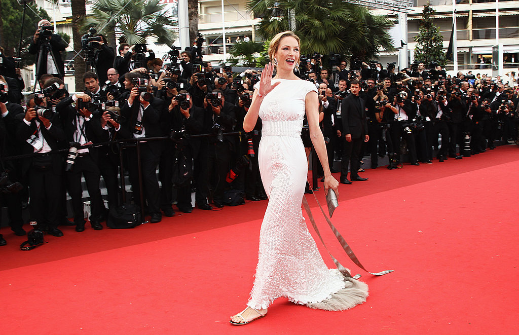Uma Thurman in Chanel couture