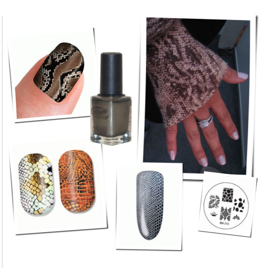 How to Create a Snakeskin Manicure