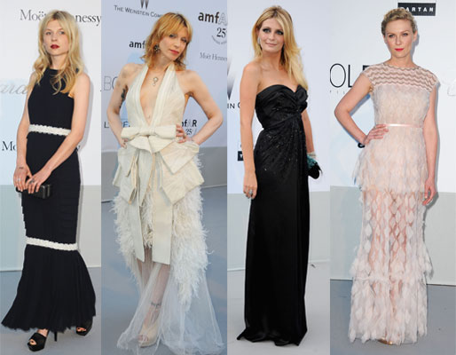 Pictures of Celebrities at the amFar Cinema Against Aids Gala at Cannes, including Mischa Barton, Karl Lagerfeld, Kristen Dunst