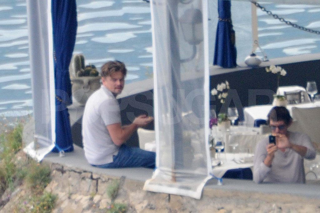 Leonardo DiCaprio Does Lunch During Naomi Campbell's Birthday Bash
