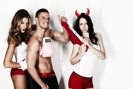 Pictures of Laura Dundovic, Tyler Atkins, Bianca Dye in Red Underwear For Red Undies Week