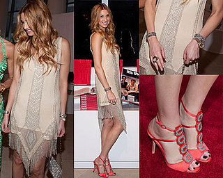 See Whitney Port's Sexy Fringed Dress at the Coca-Cola Launch from all the angles