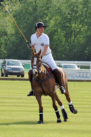 Prince William Saddles Up to Horse Around in England