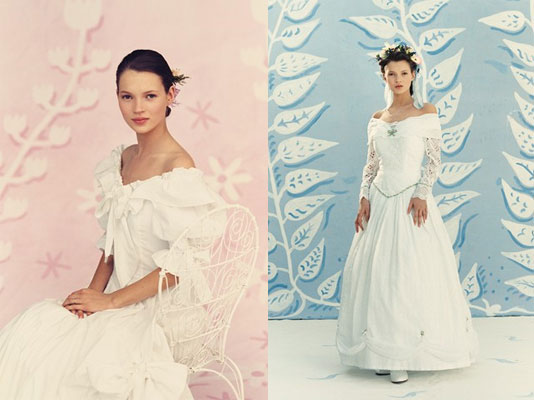 See Kate Moss as a Teenage Bride from this 1991 Brides Magazine Shoot, Lensed by Michael Wooley
