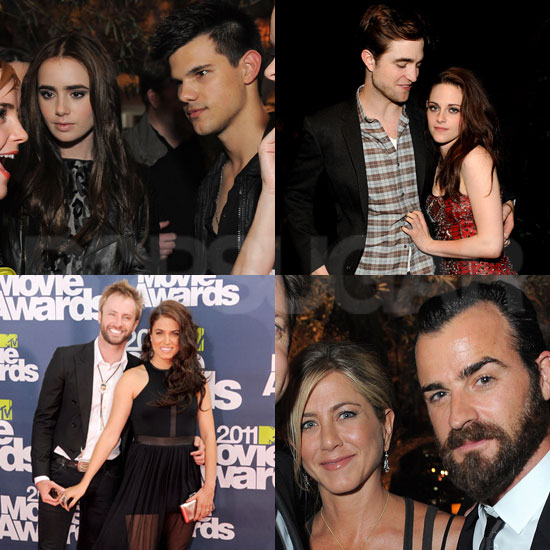 Robert Pattinson, Kristen Stewart, and Cute Couple Pictures at the MTV Movie Awards