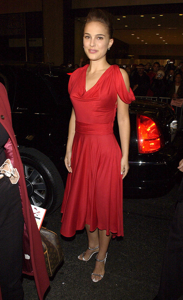 Natalie Portman in a Red Dress at the 2002 VH1 Vogue Fashion Awards