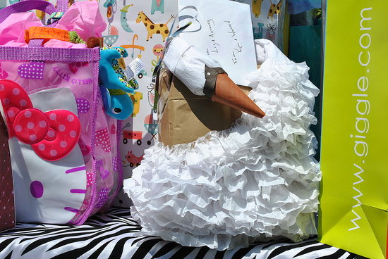 I am a HUGE Bjork fan so one of my friends made this wrapping replica of her swan dress!