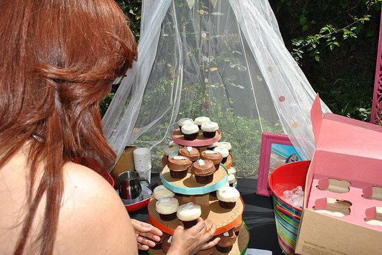 The Sprinkles *my absolute favorite* cupcake tower didn't last long