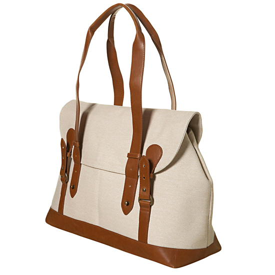 Topshop Beige Waxed Tote, $90