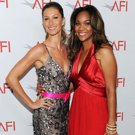 Gisele Bundchen Pictures With Matthew McConaughey at Morgan Freeman's AFI Tribute