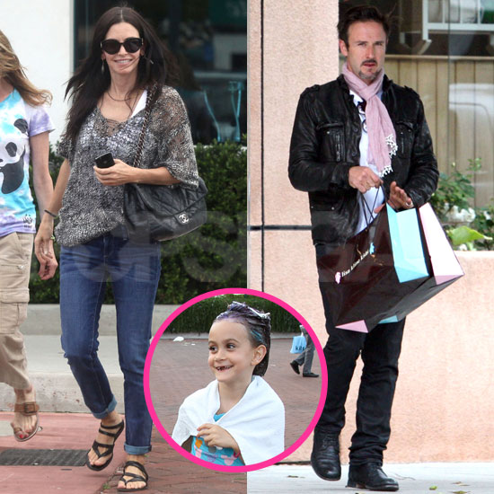Pictures of David Arquette and Courteney Cox With Coco