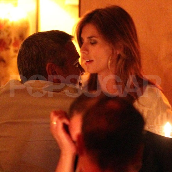George Clooney and Elisabetta Canalis Date Night Pictures