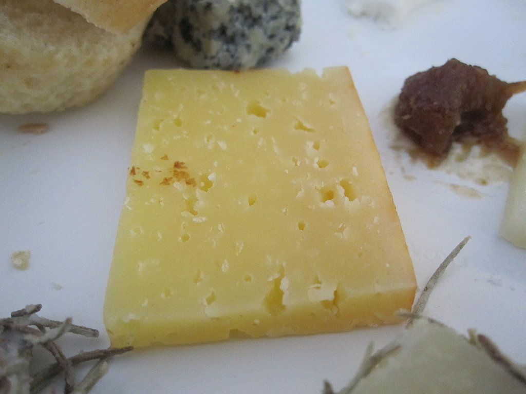 The best cheese at the Wines and Cheese of Spain seminar (What can I say?! The flavors of Spain were all over the festival!) was this Mahón Reserve from Minorca. This cow's milk cheese had a dry texture, cheddar-like flavor, and salty finish.