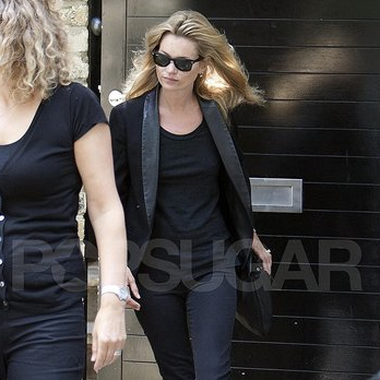 Kate Moss Pictures Heading to a Photo Shoot After Wedding Shopping With Jamie Hince