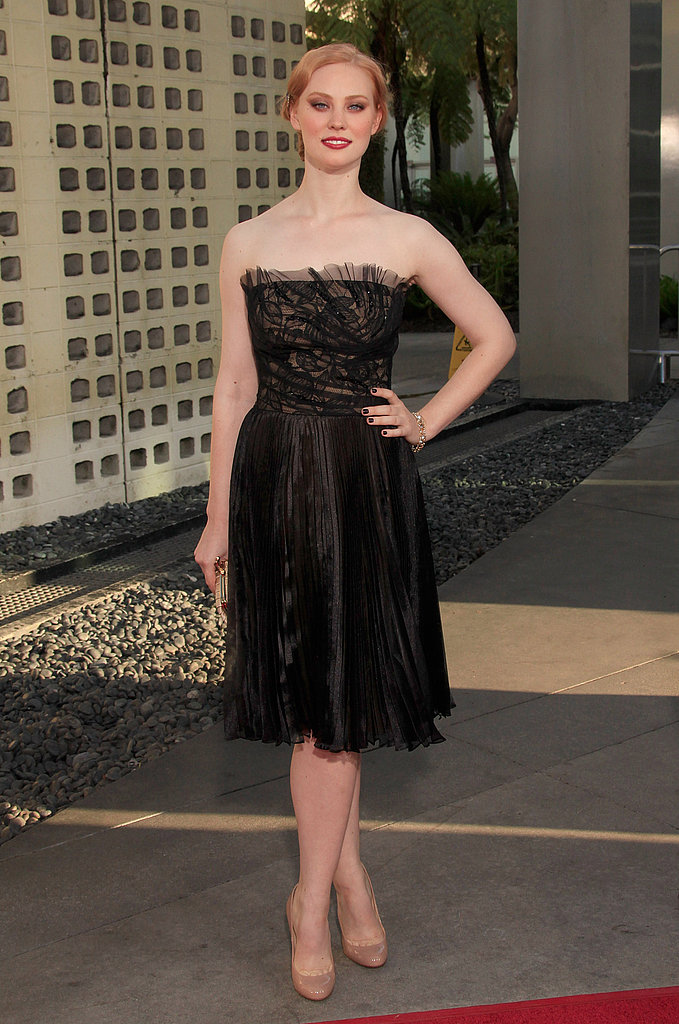 Deborah Ann Woll looked lovely at the True Blood premiere in Hollywood.