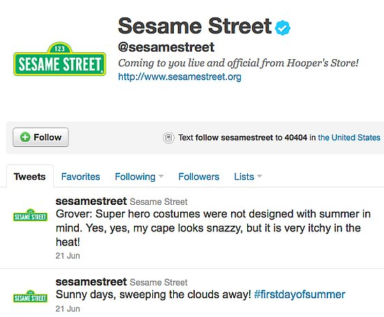 Lil Links: Who Is Sesame Street Aiming For on Twitter?